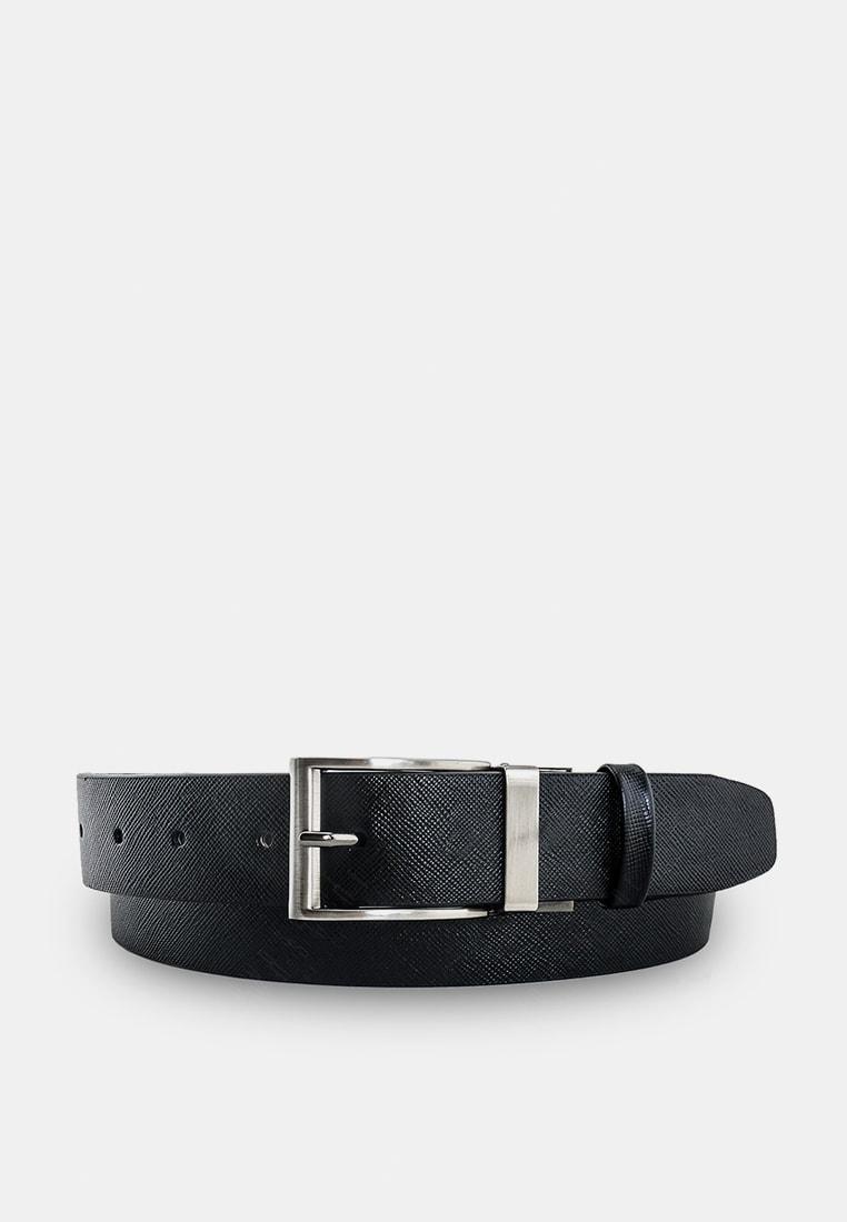 เข็มขัดหนังแท้ Executive Saffiano Reversible Belt - Black สีดำ