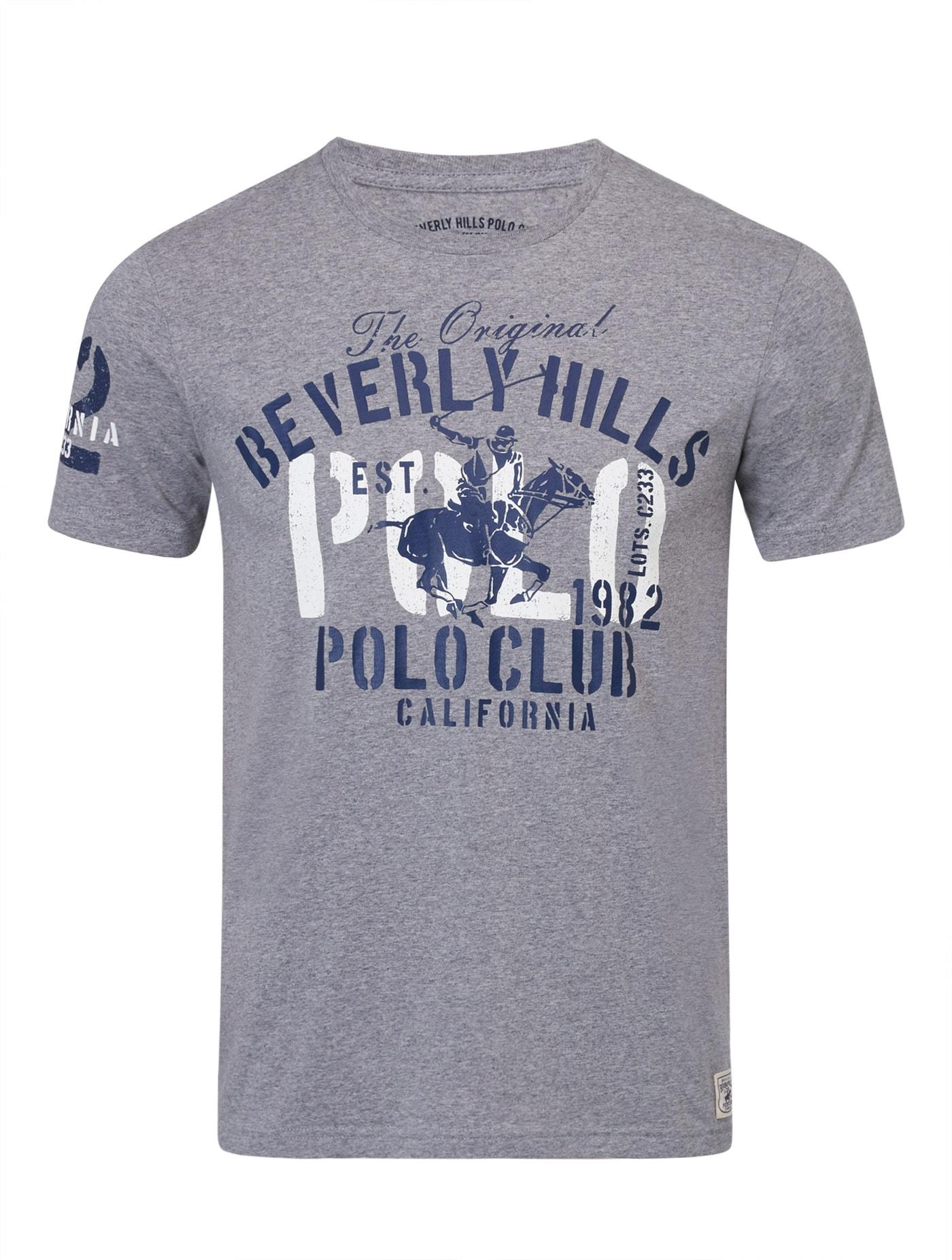 Beverly Hills Polo Club Short Sleeve Crewneck T-Shirt Mens Cotton Blend NEW