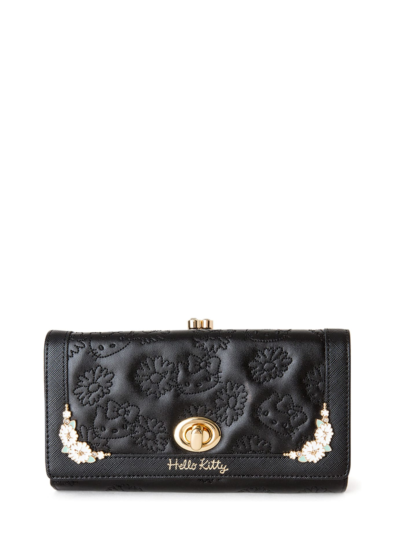 1bc673043 Hello Kitty Long Wallet Clasp Hello Kitty Black   Central Online