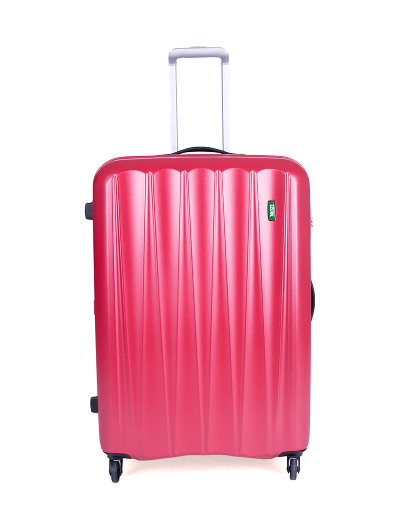 กระเป๋าเดินทางชนิดแข็ง 4 ล้อ สีแดง ขนาด 28 นิ้ว