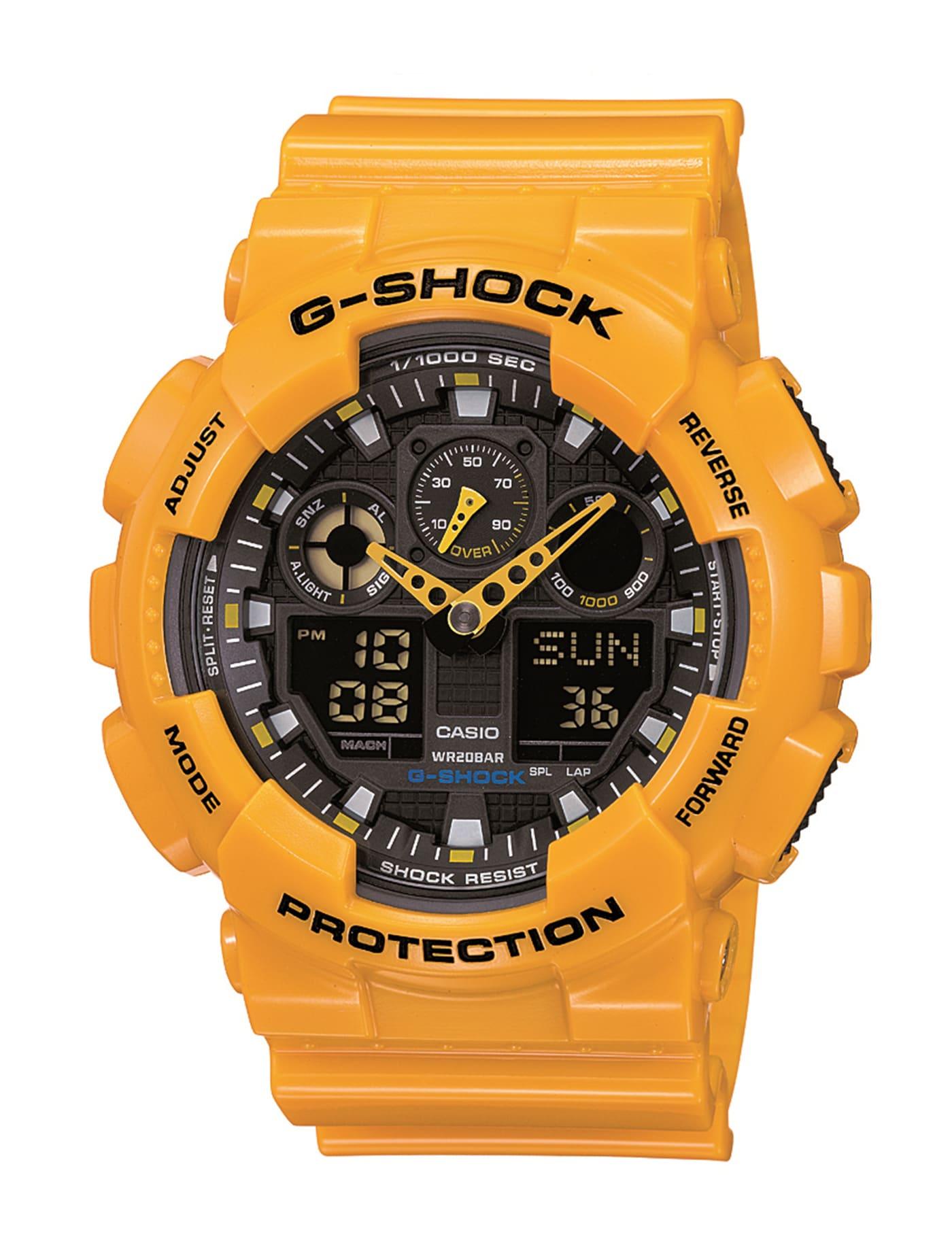 นาฬิกาข้อมือ รุ่น GA-100A-9A สีเหลือง